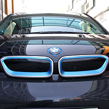 "BMW i3When I release the throttle, the i3 goes ""Zzzz"" and breaks Down in front of the pedestrian crossing."