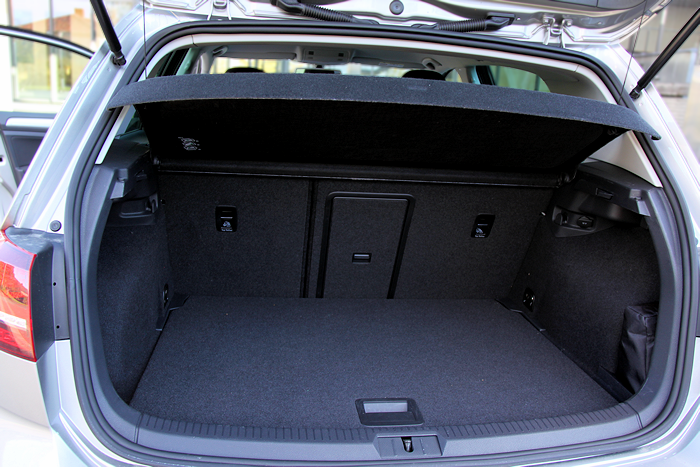 Cargo Space is almost the same size as standard Golf.