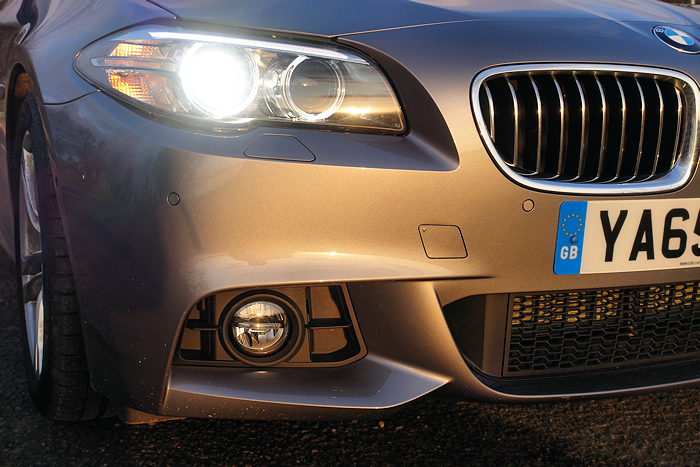 The M Sport styling makes the front very aggressive.