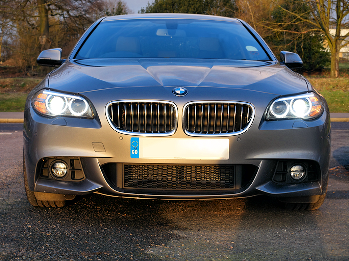 M Sport with its large air intakes and aggressive look.